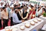 Dignitaries at one of the stalls in Seri-exhibition