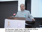 Shri Narendra Singh Tomar, Union Minister of Rural Development addressing the gathering