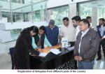 Registration of delegates from different parts of the country